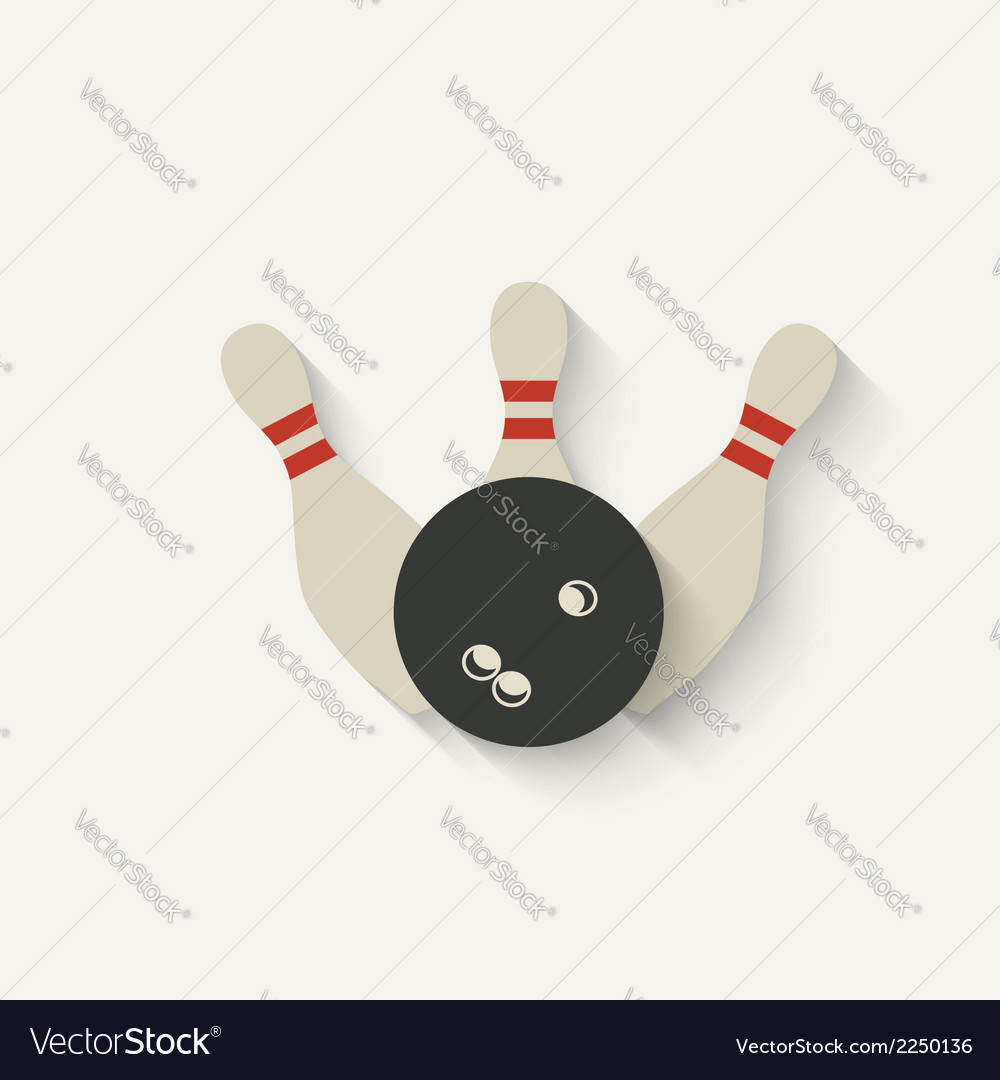 Bowling sport icon vector | Price: 1 Credit (USD $1)