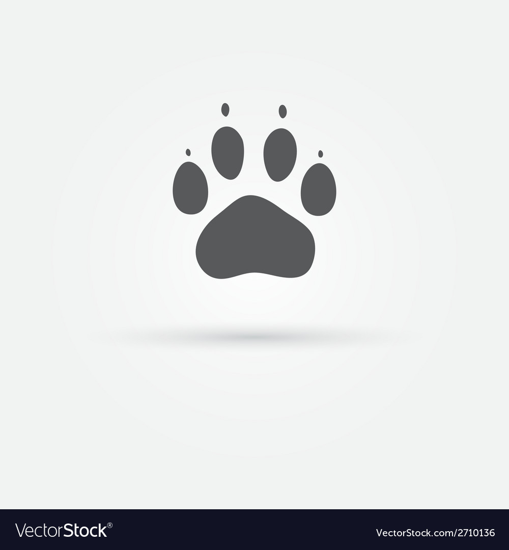 Cat paw - footprint icon vector | Price: 1 Credit (USD $1)