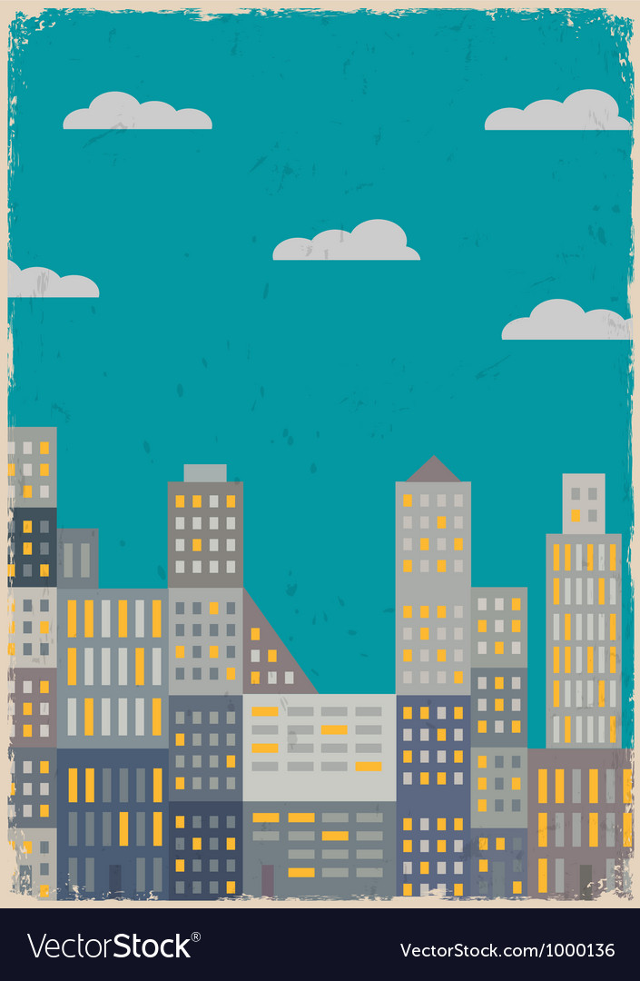 City in grunge style vector | Price: 1 Credit (USD $1)