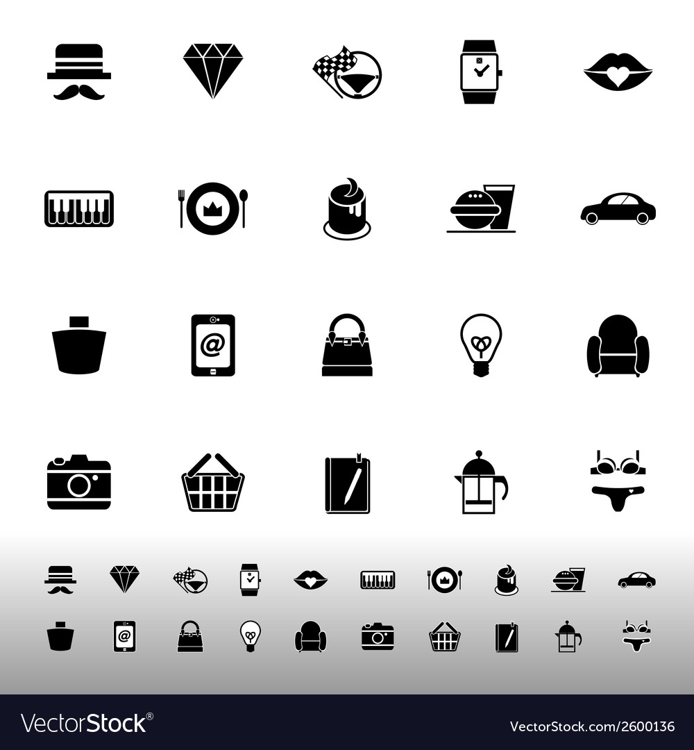 Department store item category icons on white vector | Price: 1 Credit (USD $1)