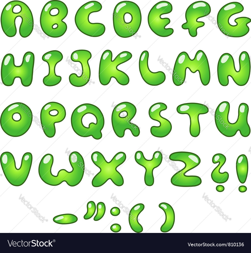 Eco bubble alphabet vector | Price: 1 Credit (USD $1)