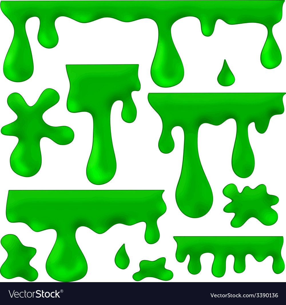 Green blots splashes and smudges vector | Price: 1 Credit (USD $1)