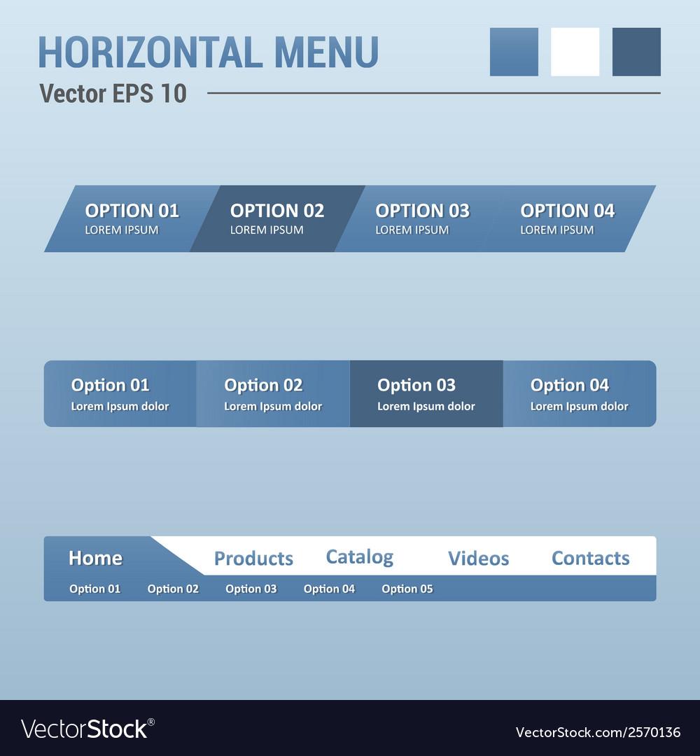 Horizontal menu vector   Price: 1 Credit (USD $1)