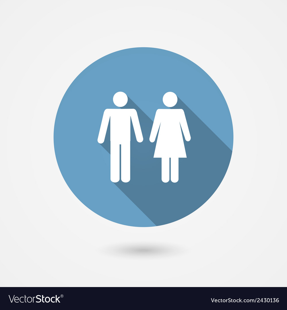 Male and female wc icon vector | Price: 1 Credit (USD $1)
