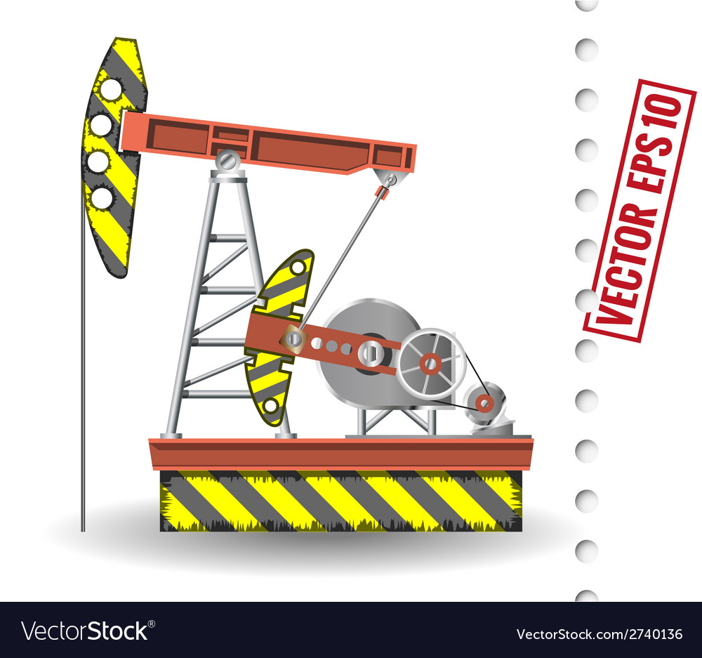 Oil pump vector | Price: 1 Credit (USD $1)