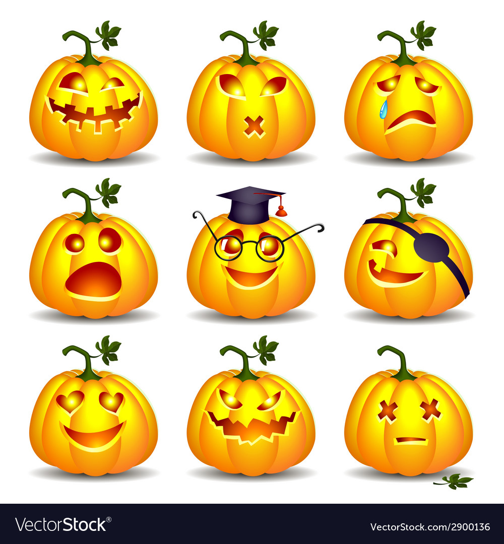 Set pumpkins for halloween vector | Price: 3 Credit (USD $3)