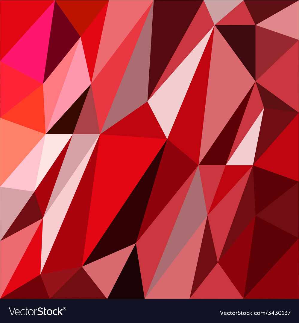 Abstrack triangles red background vector | Price: 1 Credit (USD $1)