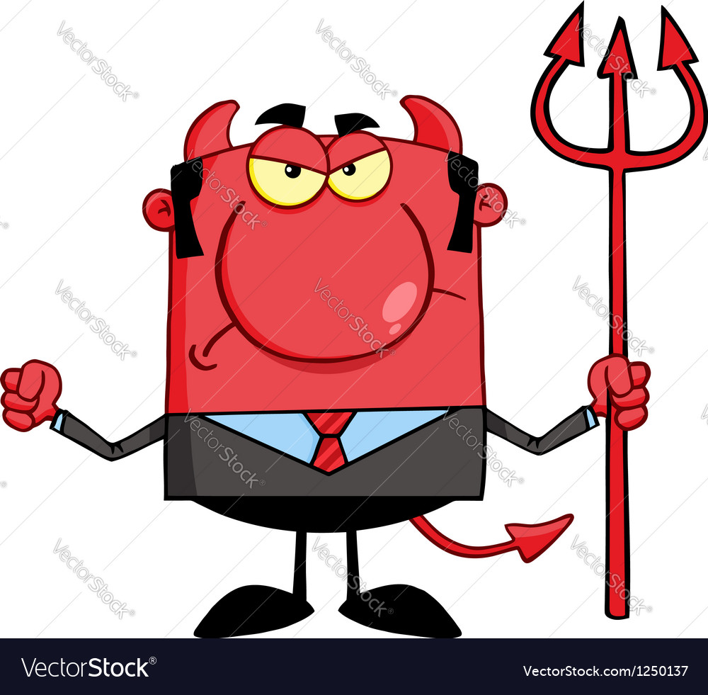 Angry devil with a trident vector | Price: 1 Credit (USD $1)