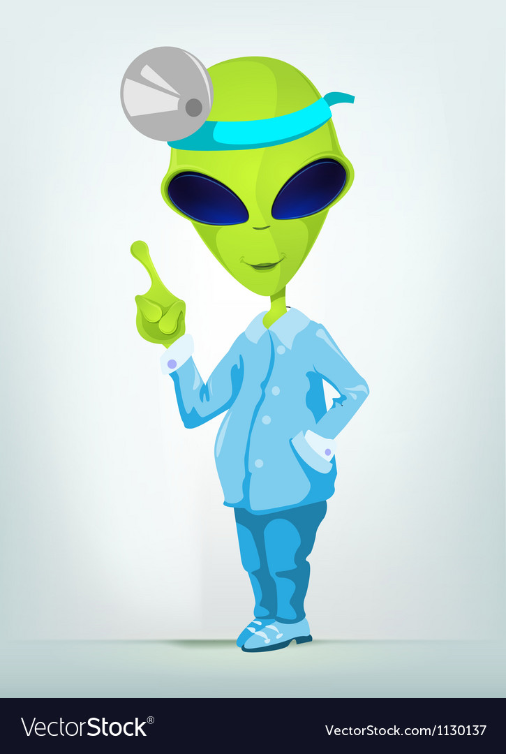 Cartoon surgeon alien vector | Price: 1 Credit (USD $1)