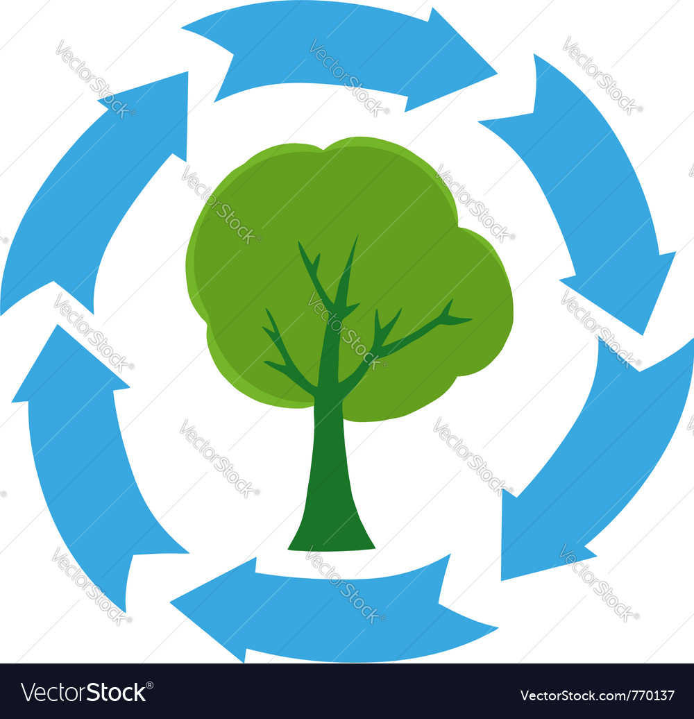 Eco green tree vector | Price: 1 Credit (USD $1)