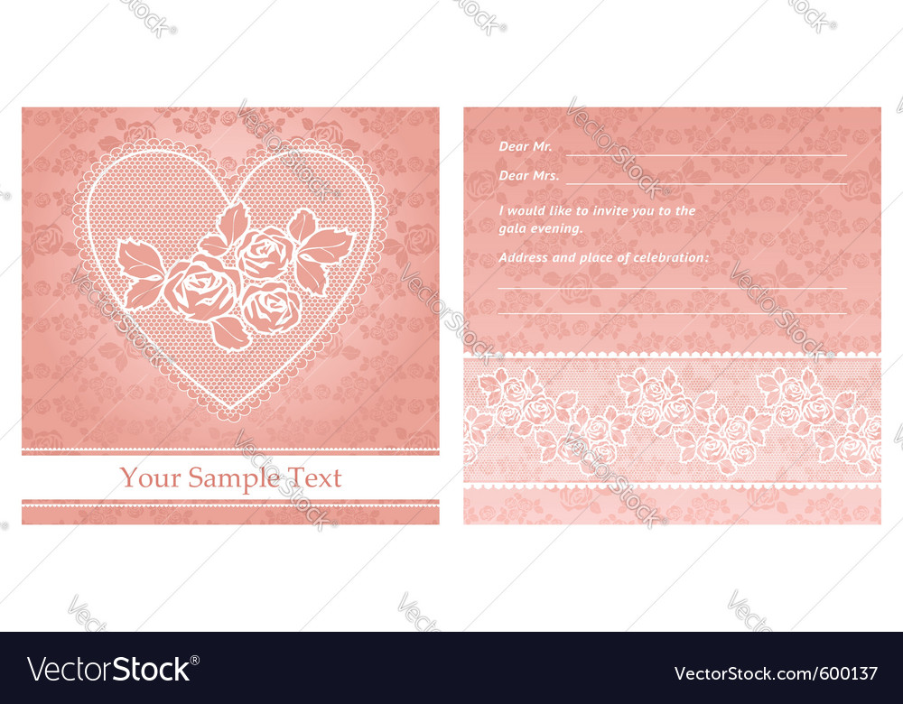 Floral background with lace for greeting card vector | Price: 1 Credit (USD $1)