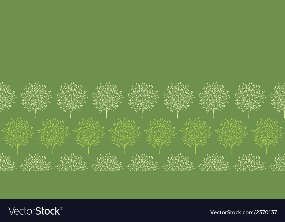 Green trees stripes horizontal seamless pattern vector | Price: 1 Credit (USD $1)