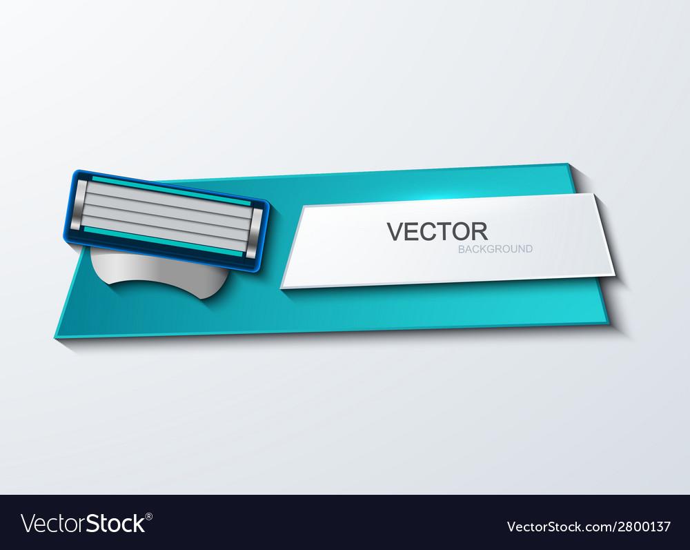 Modern razor banner element design vector | Price: 1 Credit (USD $1)