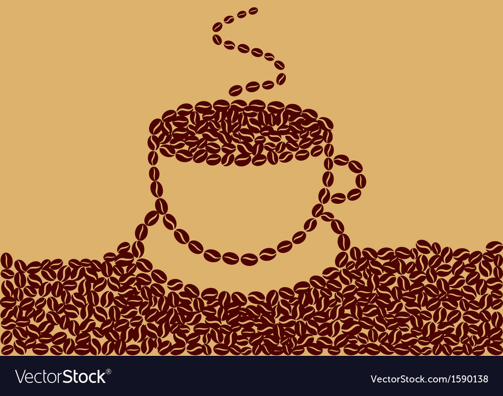 Abstract cup of coffee vector | Price: 1 Credit (USD $1)