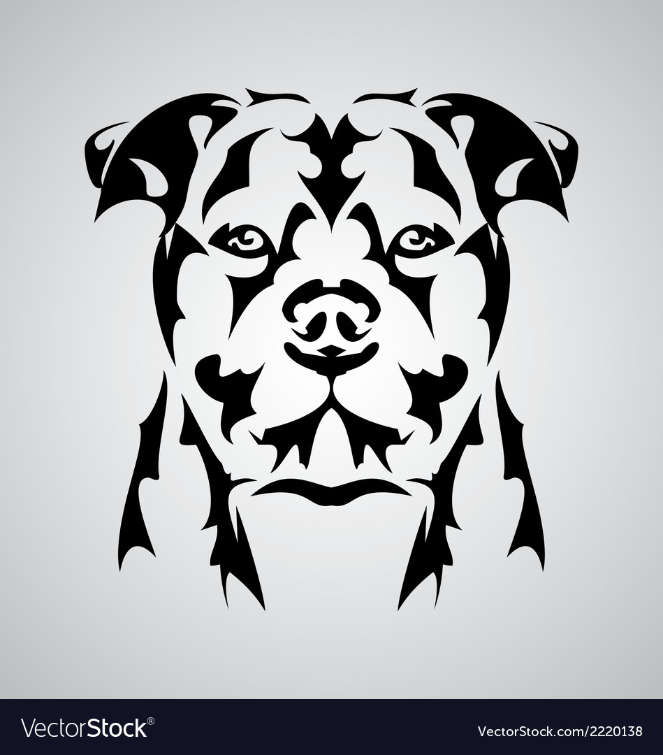 Dog face abstract vector   Price: 1 Credit (USD $1)