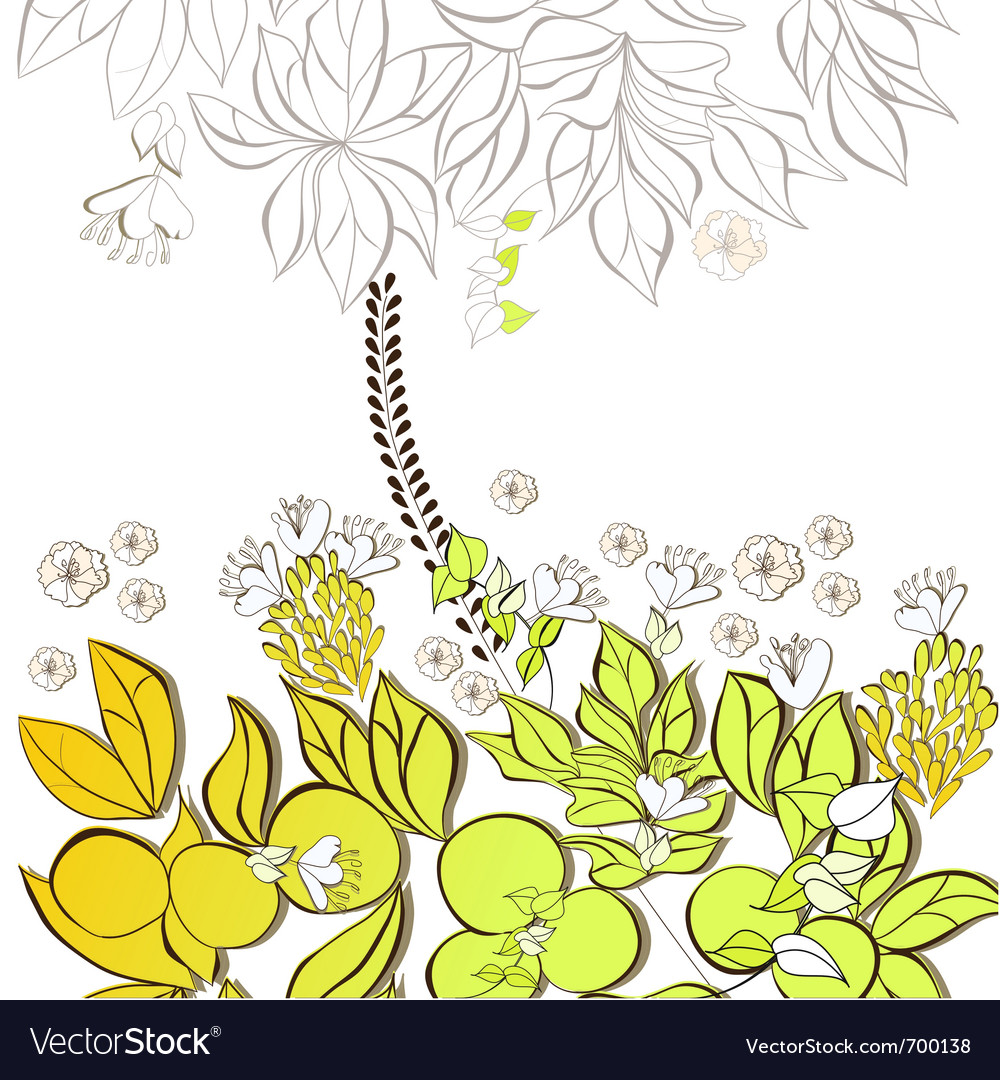 Gift card with floral element vector | Price: 1 Credit (USD $1)