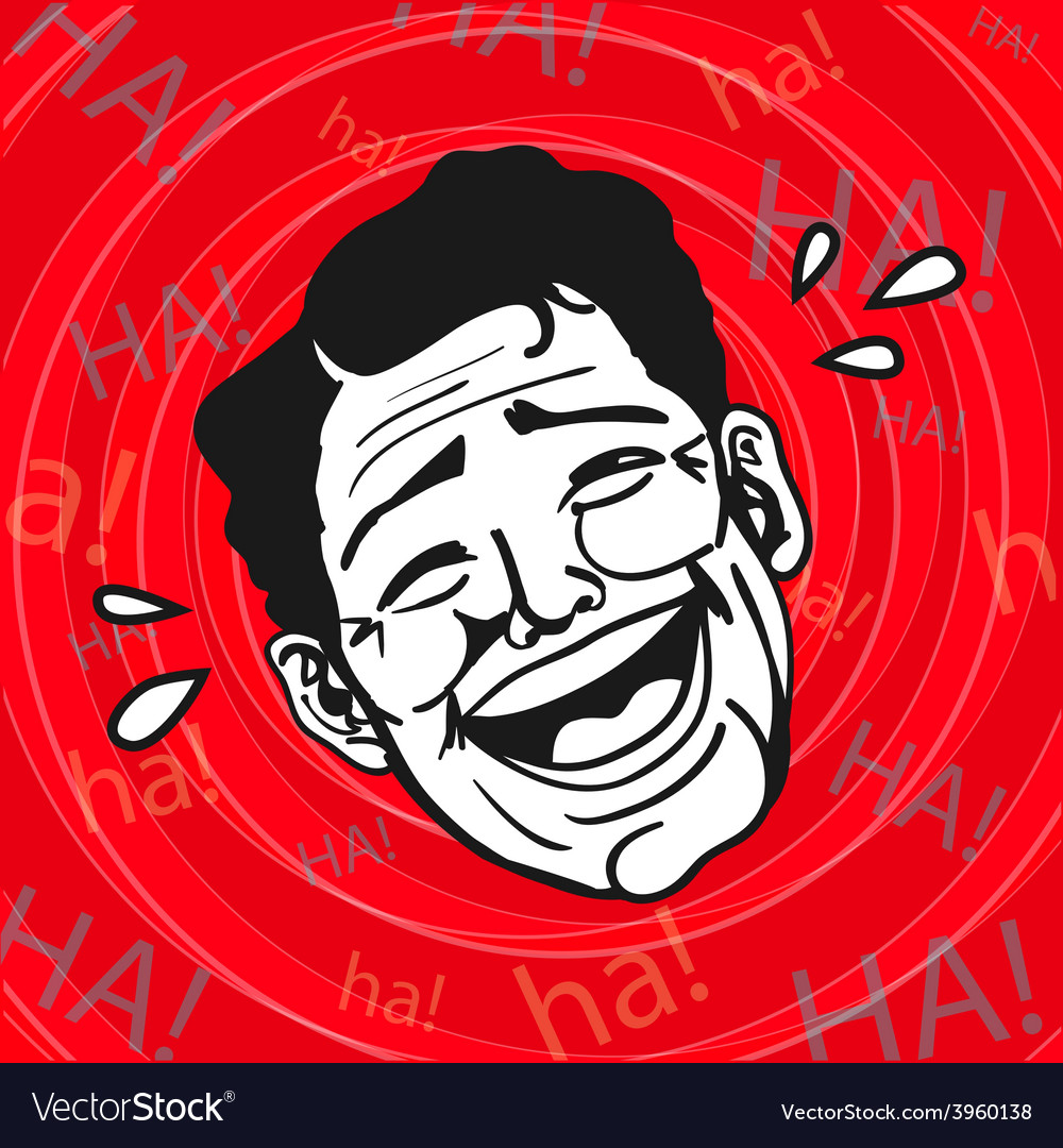 Lol man laughing out loud vector | Price: 1 Credit (USD $1)