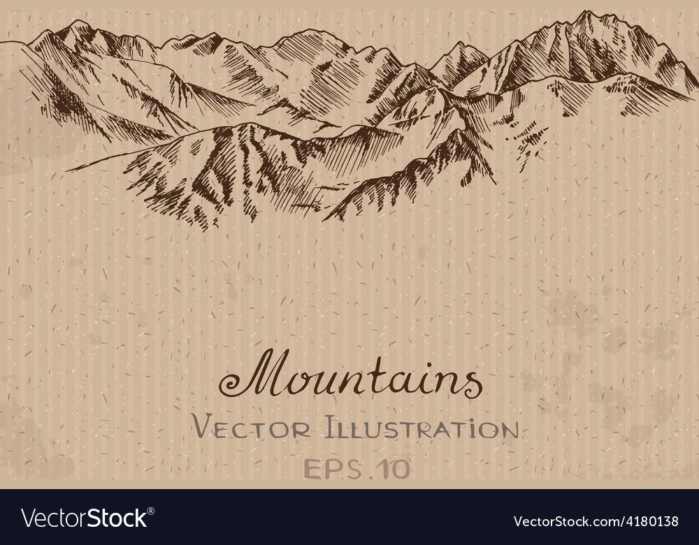Mountains ridge vector | Price: 1 Credit (USD $1)