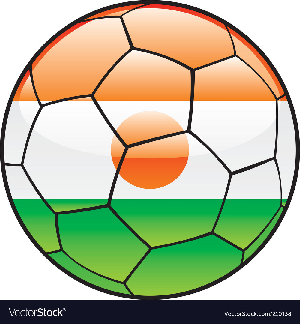 Niger flag on soccer ball vector | Price: 1 Credit (USD $1)
