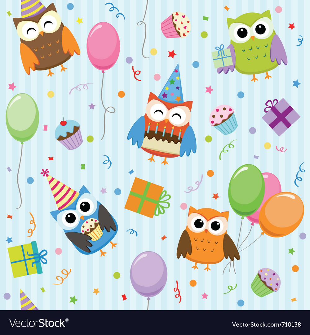 Party owls vector | Price: 1 Credit (USD $1)