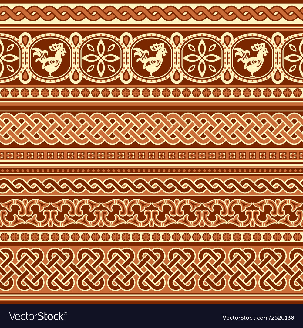 Slavic ornament seamless vector | Price: 1 Credit (USD $1)