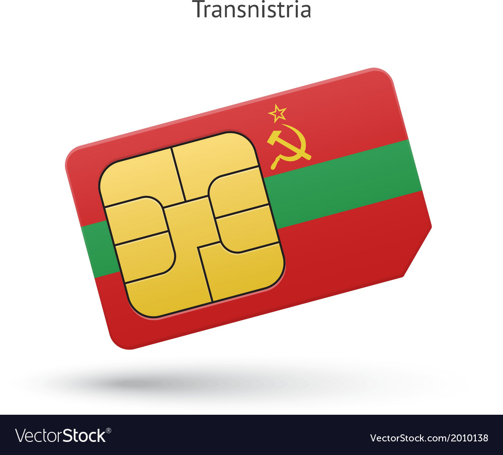 Transnistria mobile phone sim card with flag vector | Price: 1 Credit (USD $1)