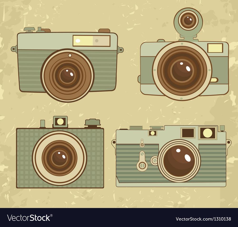 Vintage cameras vector | Price: 3 Credit (USD $3)