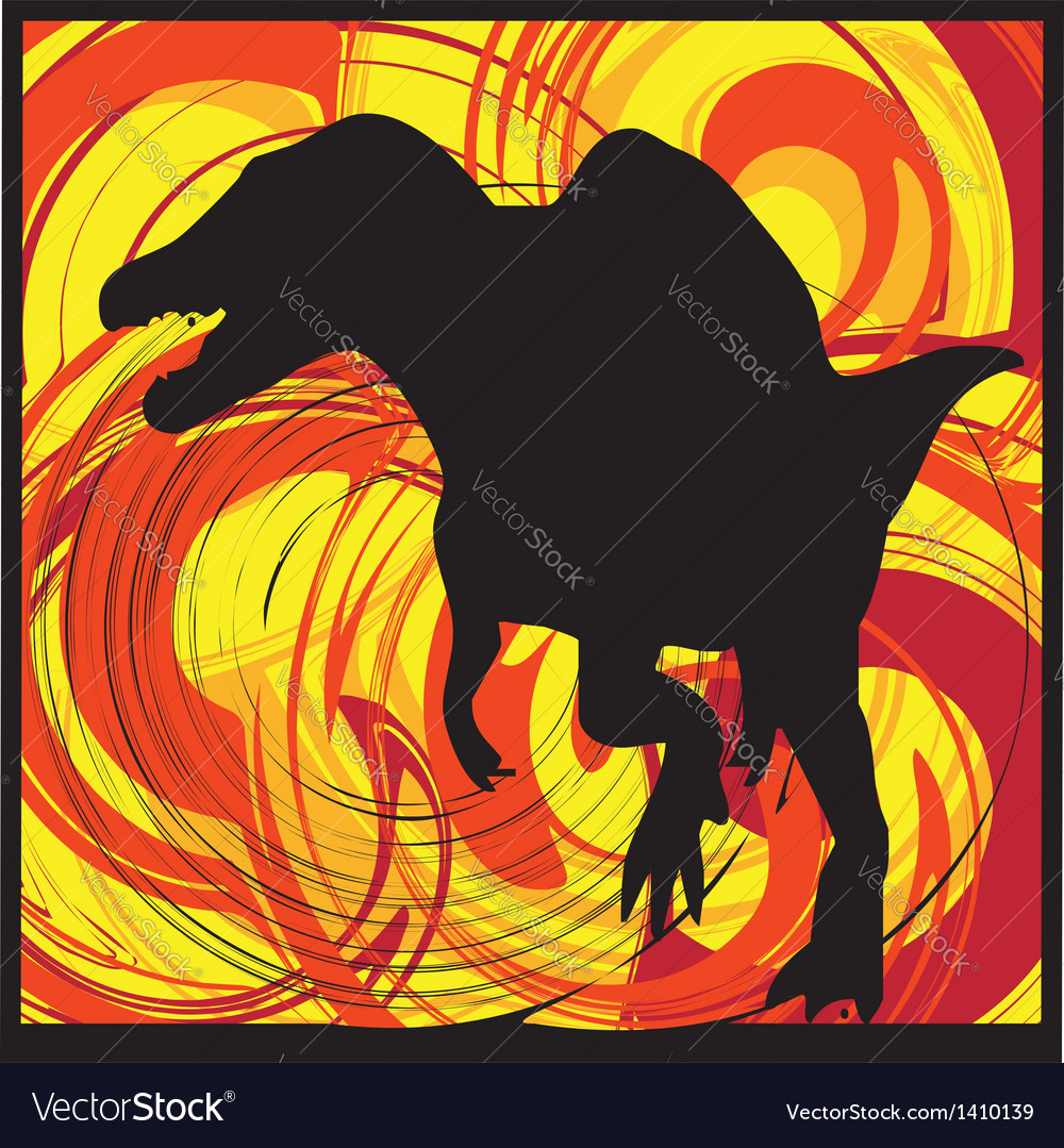 Abstract dinosaur vector | Price: 1 Credit (USD $1)