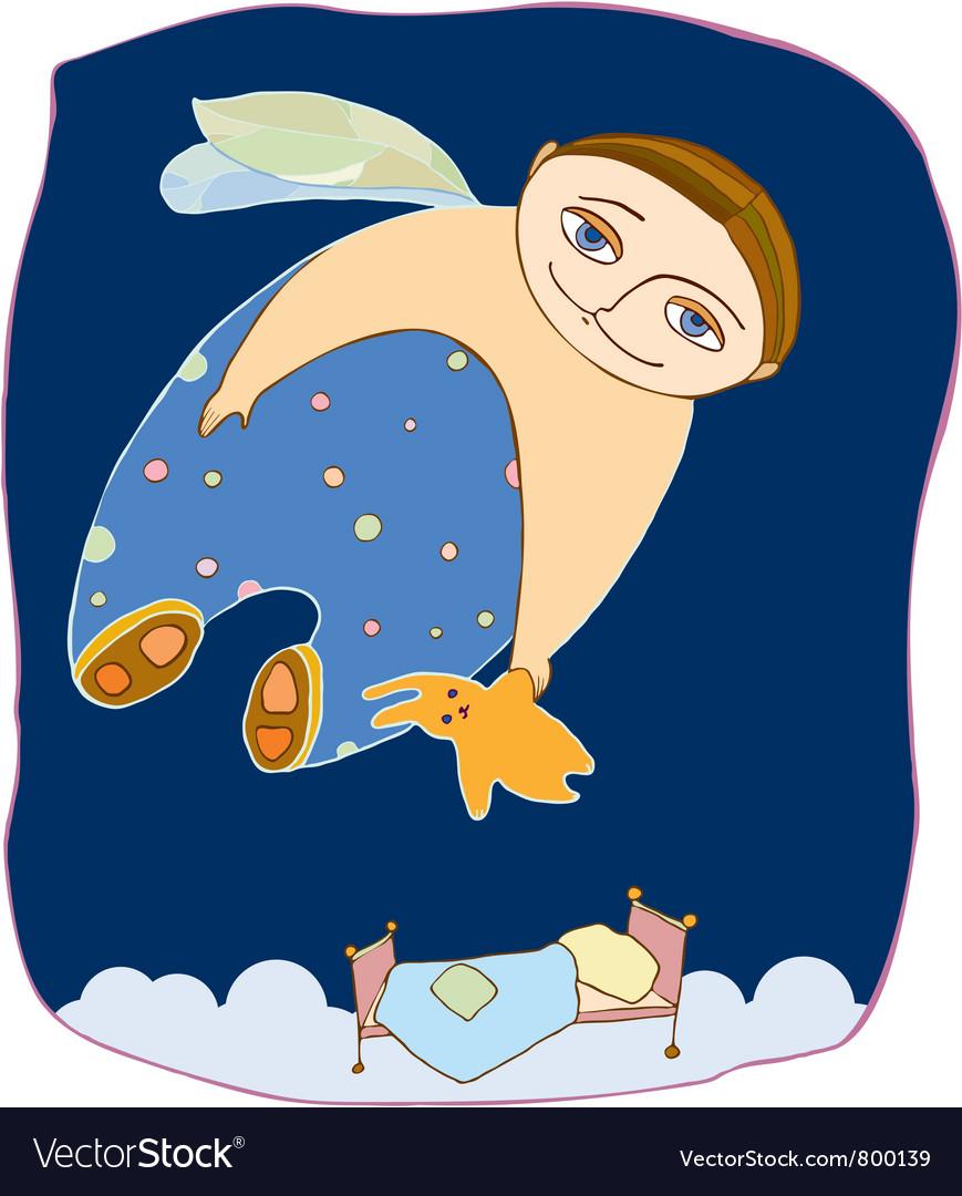 Boy fly sleep vector | Price: 3 Credit (USD $3)