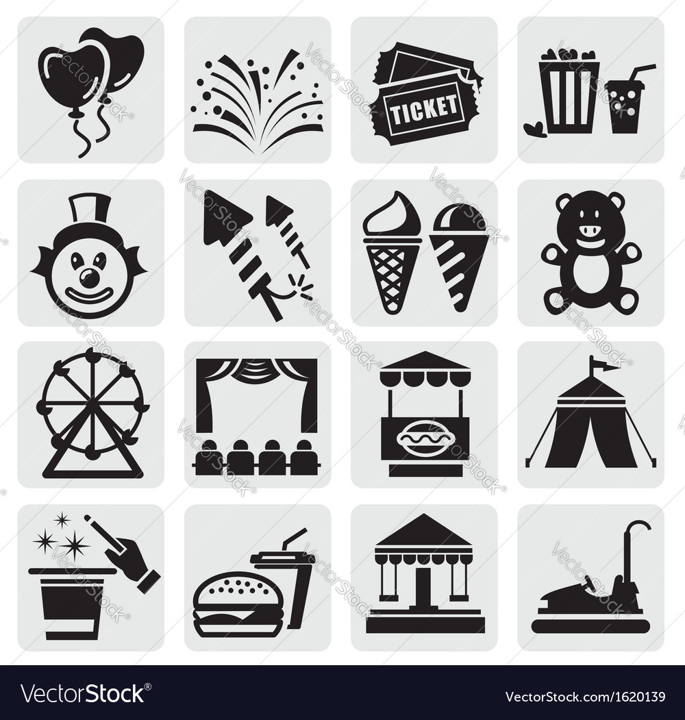 Carnival icons vector | Price: 1 Credit (USD $1)