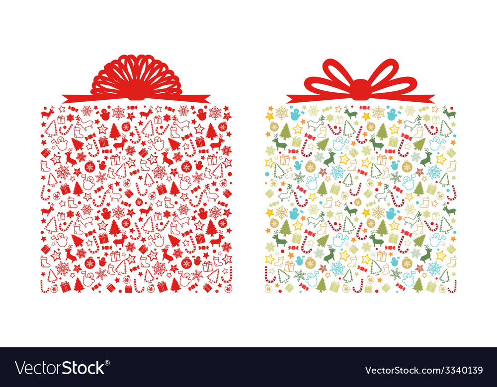 Christmas gift box vector | Price: 1 Credit (USD $1)