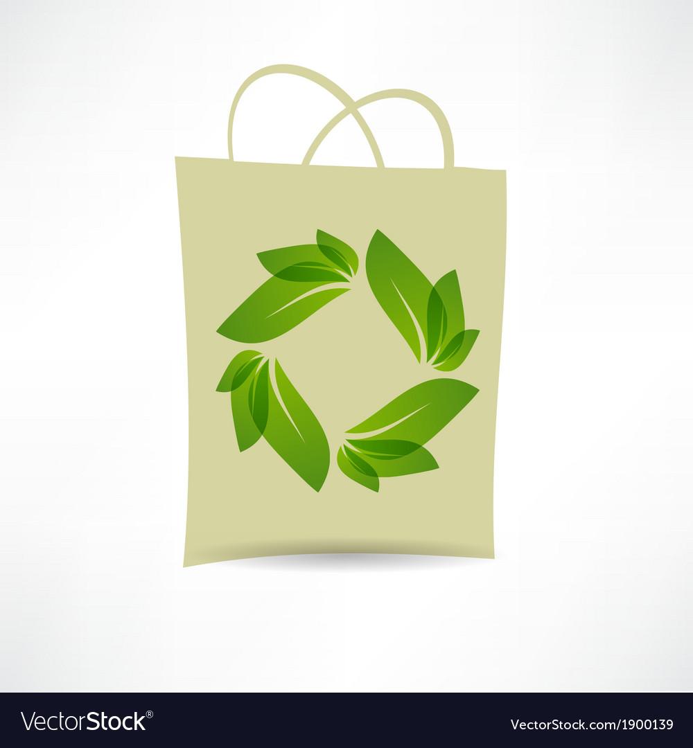 Creative eco bag icon vector | Price: 1 Credit (USD $1)