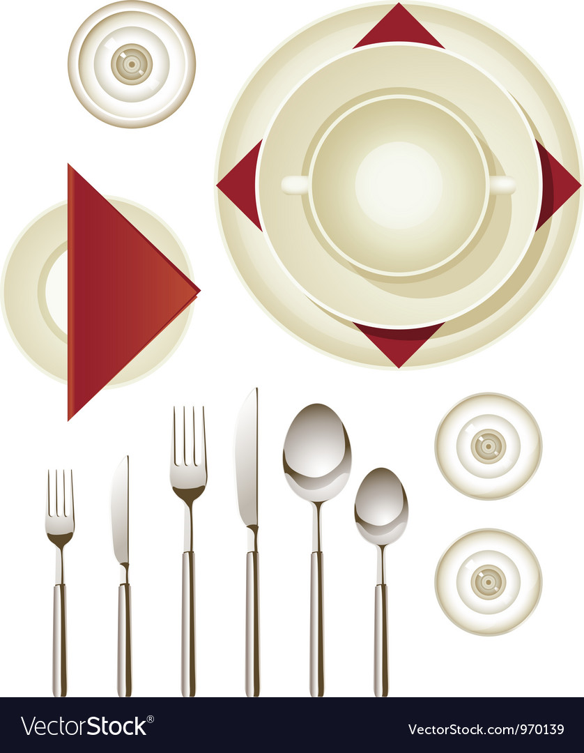 Dinnerware vector | Price: 1 Credit (USD $1)
