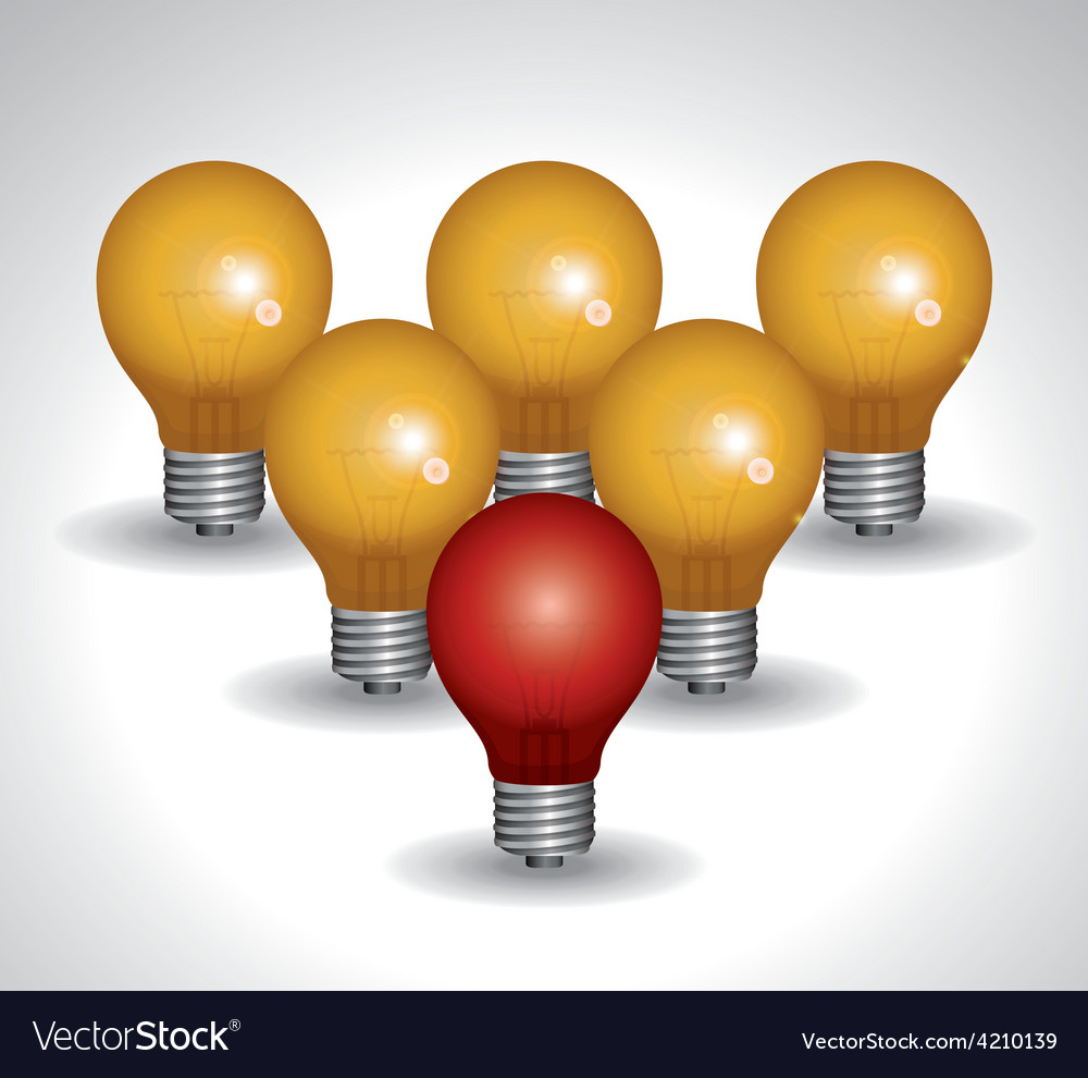 Light bulb design vector | Price: 1 Credit (USD $1)