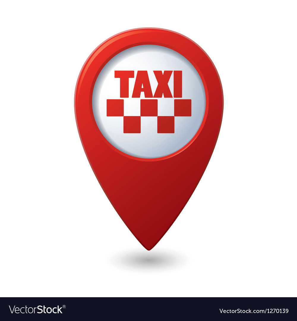 Map pointer with taxi icon vector   Price: 1 Credit (USD $1)