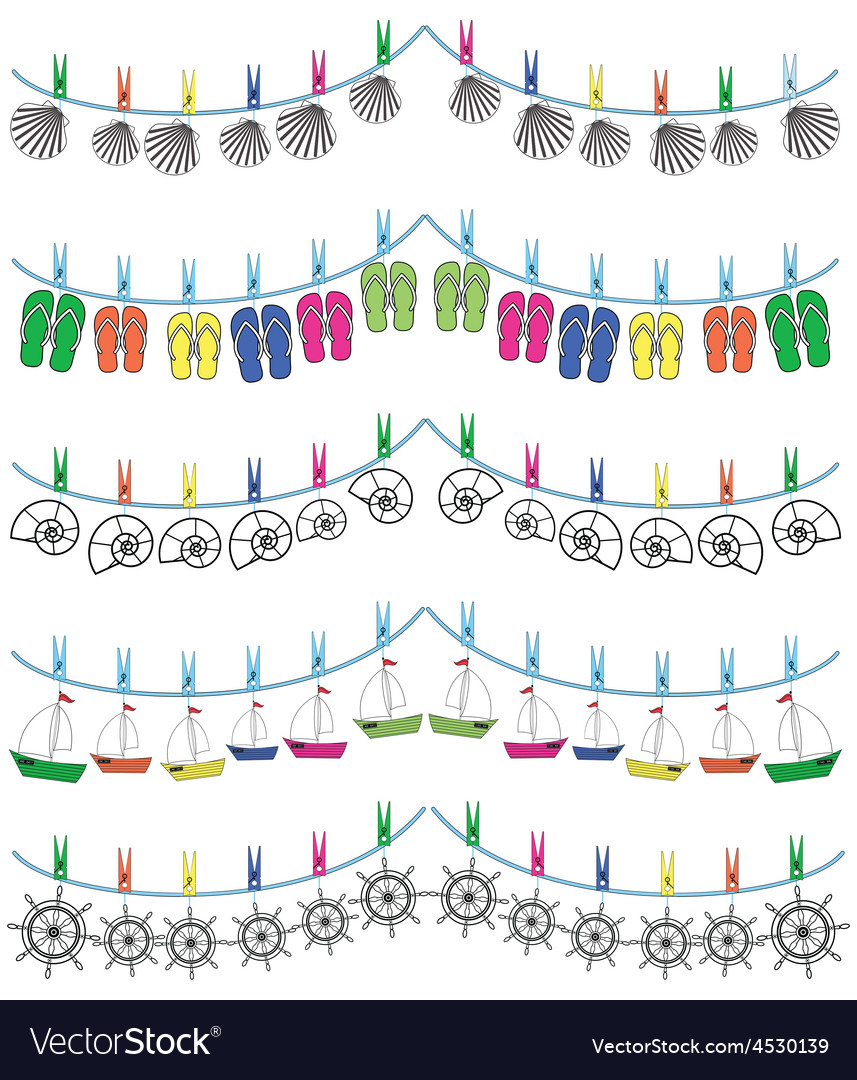 Nautical holiday bunting vector   Price: 1 Credit (USD $1)