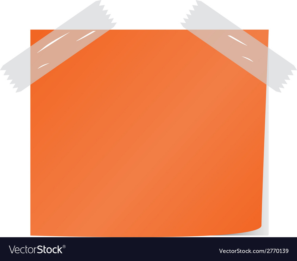 Orange post it vector | Price: 1 Credit (USD $1)