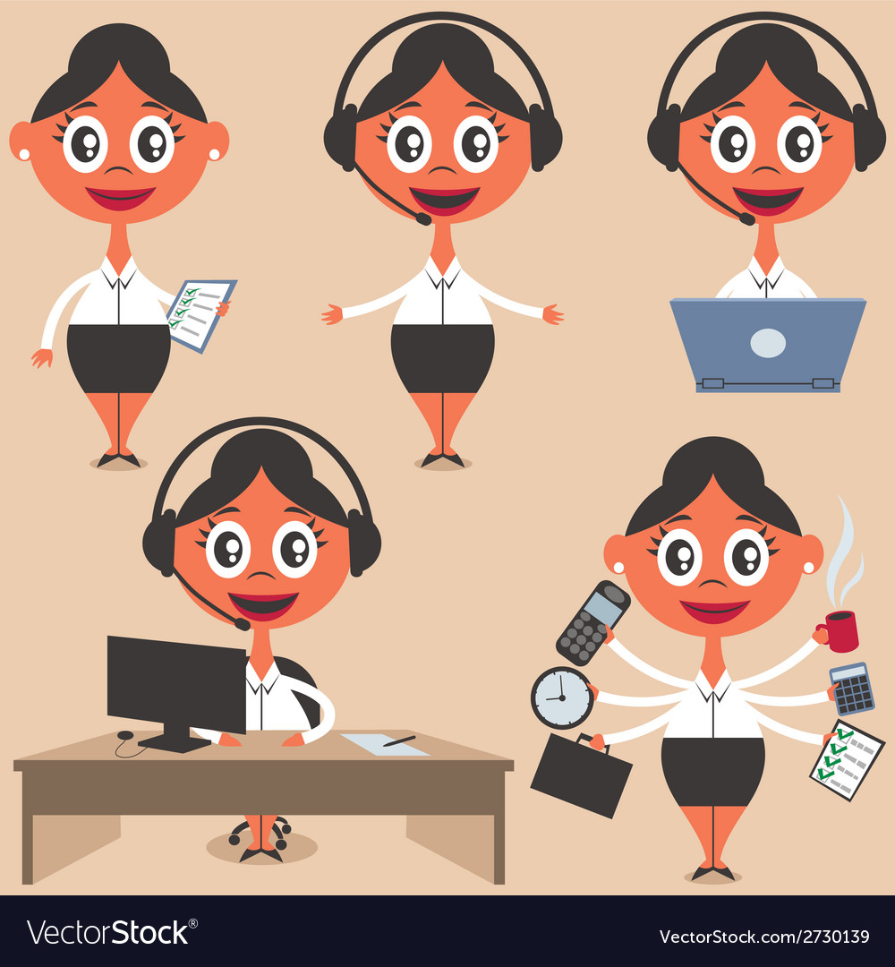 Secretary vector | Price: 1 Credit (USD $1)