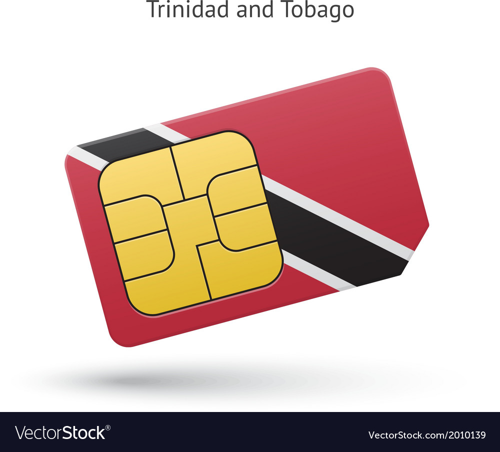 Trinidad and tobago mobile phone sim card with vector | Price: 1 Credit (USD $1)