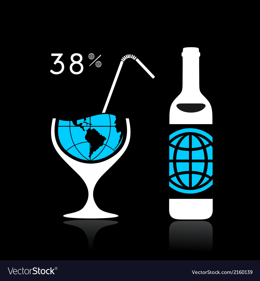 The world and alcohol vector   Price: 1 Credit (USD $1)