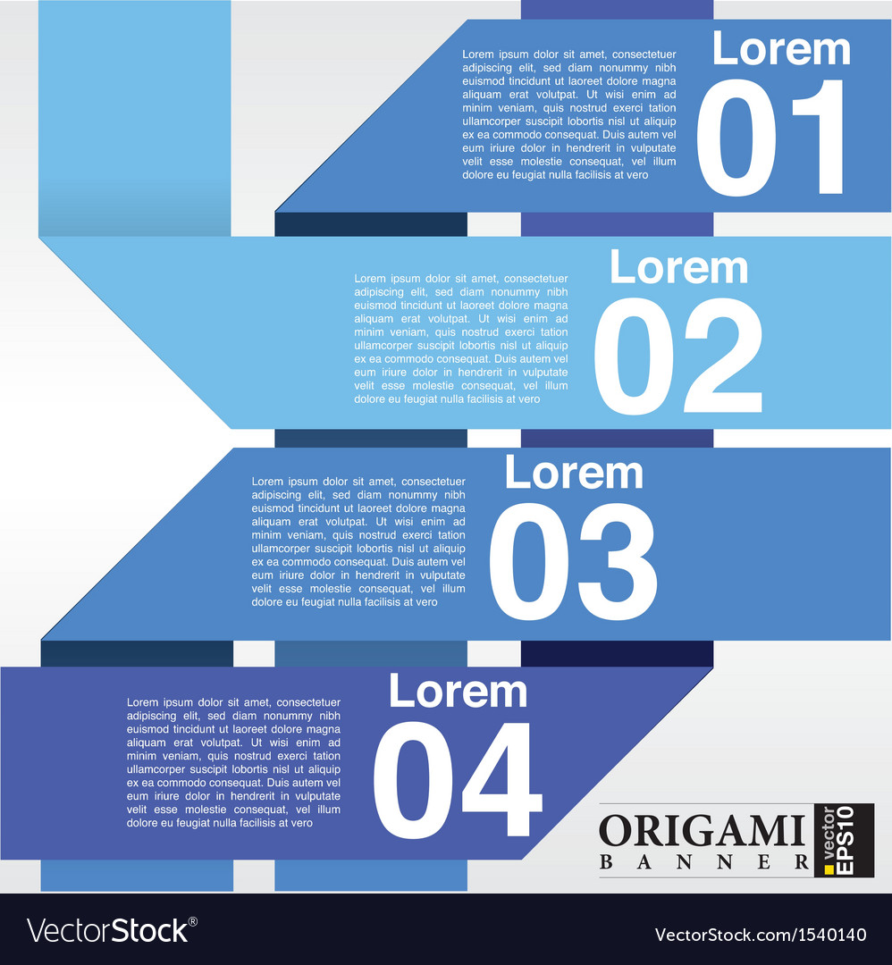 Abstract blue banners in four step eps10 vector | Price: 1 Credit (USD $1)
