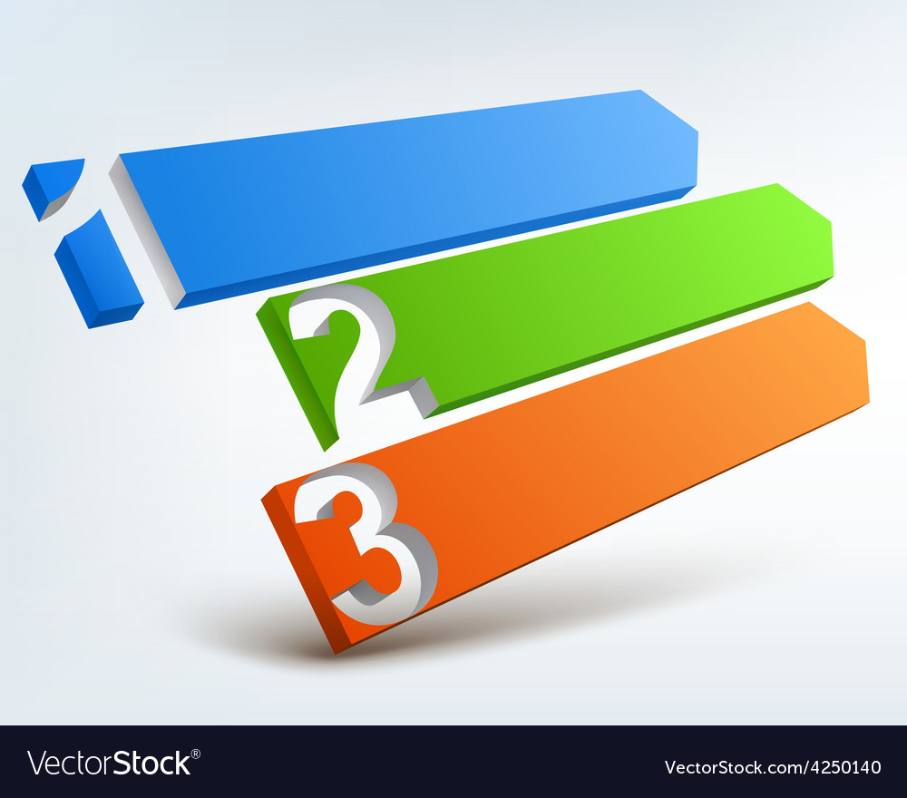 Abstract numbered banners vector | Price: 3 Credit (USD $3)