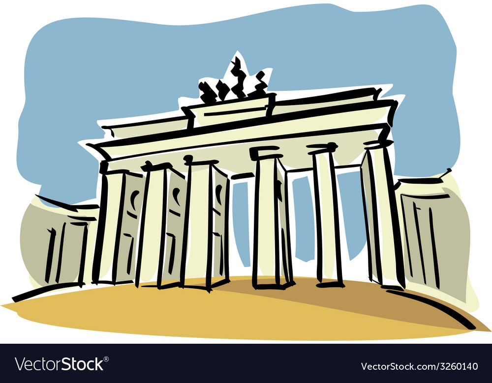 Berlin brandenburg gate vector | Price: 1 Credit (USD $1)