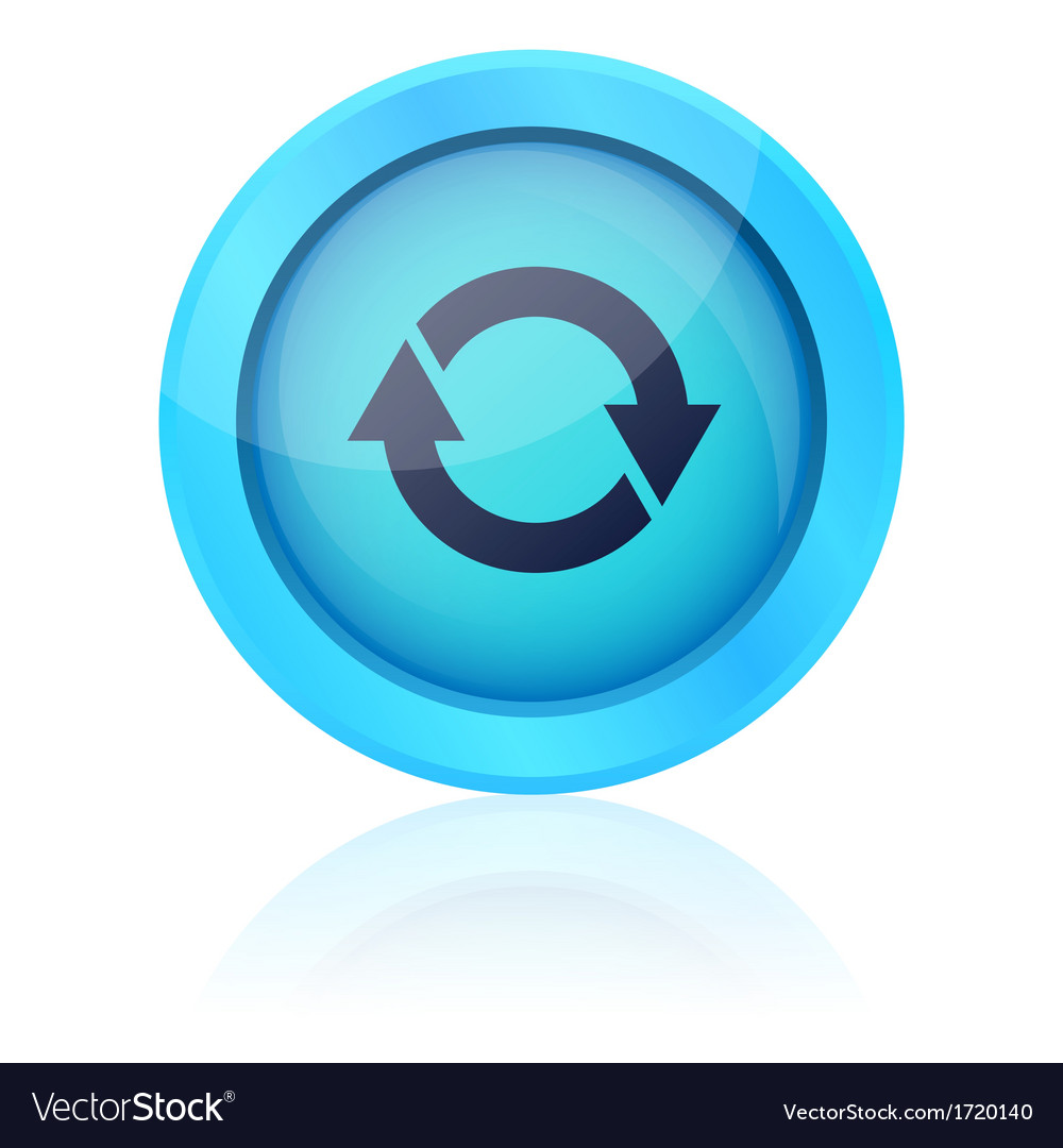 Blue update button vector | Price: 1 Credit (USD $1)