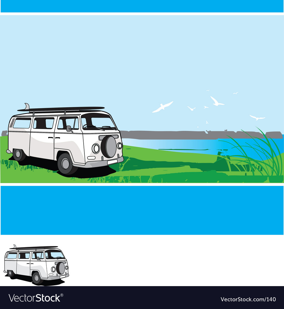 Campervan tour vector | Price: 1 Credit (USD $1)