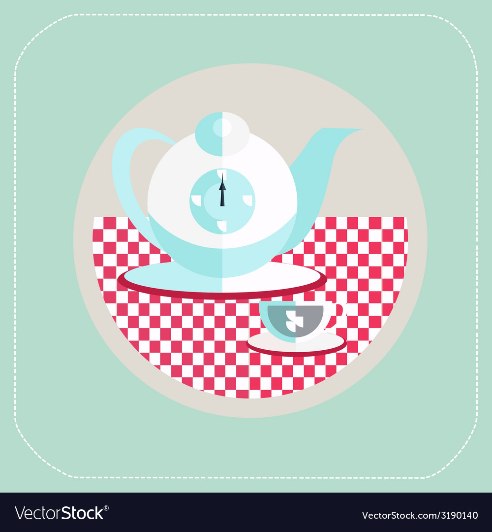 Cup of tea flat icon vector   Price: 1 Credit (USD $1)
