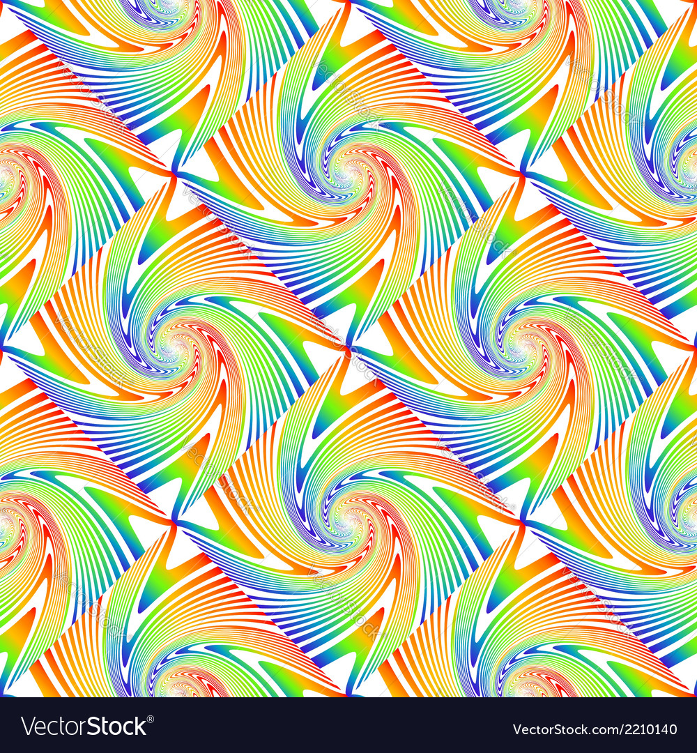 Design seamless colorful swirl pattern vector | Price: 1 Credit (USD $1)