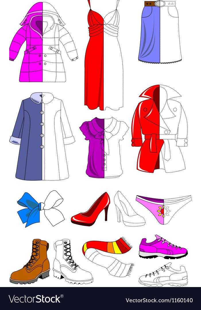Female wardrobe vector | Price: 1 Credit (USD $1)