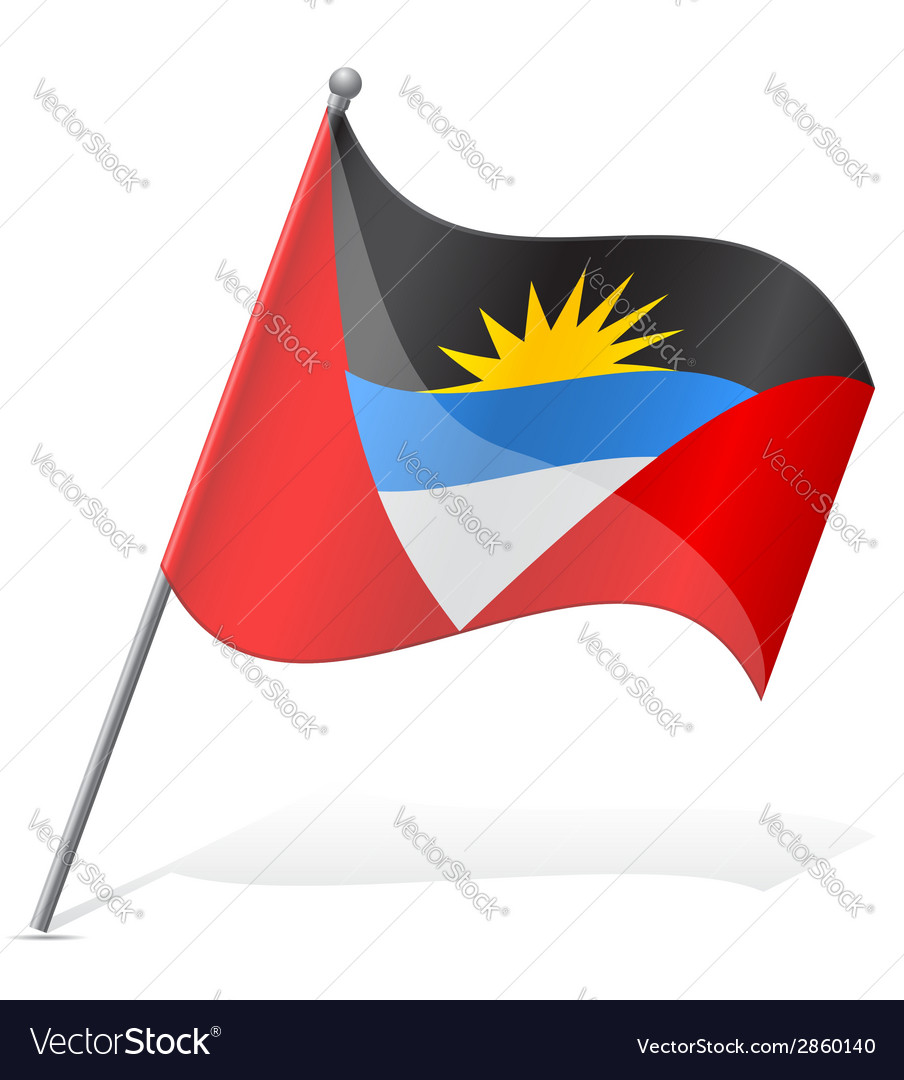 Flag of antigua and barbuda vector | Price: 1 Credit (USD $1)