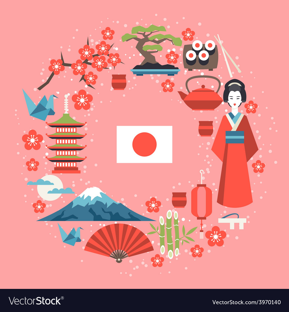 Japan background design vector   Price: 1 Credit (USD $1)